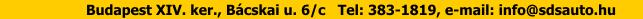 Opel szakszerviz, gumi- & gyorsszerviz - Budapest XV. ker., Szerencs u. 91-93. Tel: 306-4552, e-mail: info@sdsauto.hu